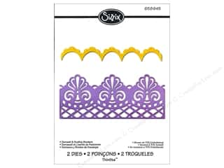 Sizzix $2 - $8: Sizzix Thinlits Die Set 2PK Damask & Scallop Borders by Jen Long