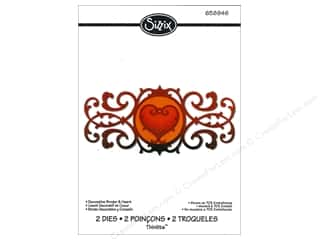 Valentine's Day Dies: Sizzix Thinlits Die Set 2PK Decorative Border & Heart by Jen Long