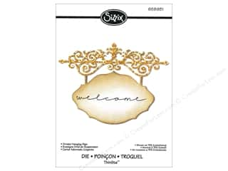 Hangers $4 - $6: Sizzix Thinlits Die Ornate Hanging Sign by Jen Long