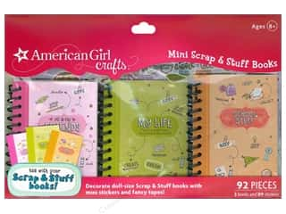 Scrapbook / Photo Albums Projects & Kits: American Girl Mini Scrap & Stuff Books 3 pc.