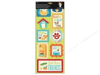 Imaginisce Dimensional Stickers: Imaginisce Stickers Good Dog Chipboard Fluffy Stuff