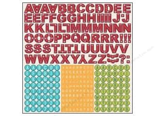 Glitter ABC & 123: Imaginisce Stickers Childhood Memories ABC (12 sets)