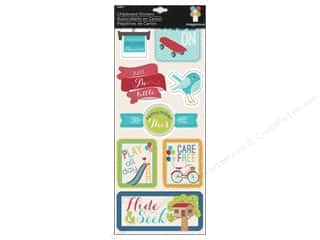 Imaginisce Dimensional Stickers: Imaginisce Stickers Childhood Memories Chipboard Hide & Seek