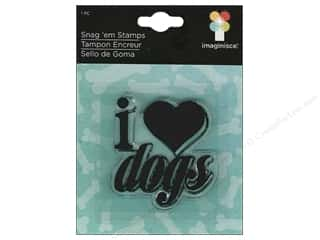 Imaginisce Snag &#39;em Stamp Good Dog I Heart Dogs