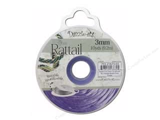 Dazzle It Rattail Cord 3mm Dark Purple 10yd