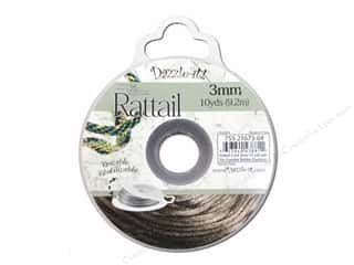 Dazzle It Rattail Cord 3mm Espresso 10yd