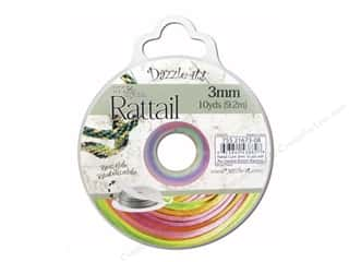 Dazzle It Rattail Cord 3mm Rainbow 10yd