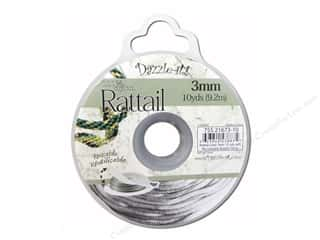 Dazzle It Rattail Cord 3mm Silver 10yd