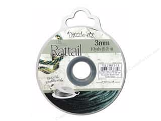 Dazzle It Rattail Cord 3mm Dark Hunter Green 10yd
