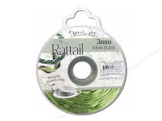 Dazzle It Rattail Cord 3mm Olive 10yd