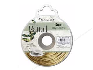 Dazzle It Rattail Cord 3mm Gold Bronze 10yd