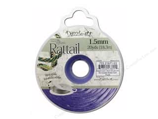 Jewelry Making Supplies $1 - $5: Dazzle It Rattail Cord 1.5mm Dark Purple 20yd