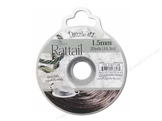 Jewelry Making Supplies $1 - $5: Dazzle It Rattail Cord 1.5mm Espresso 20yd