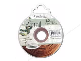 Jewelry Making Supplies Sewing & Quilting: Dazzle It Rattail Cord 1.5mm Copper 20yd