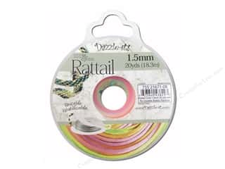 Dazzle-it Sewing Construction: Dazzle It Rattail Cord 1.5mm Rainbow 20yd