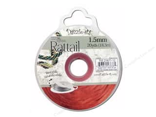 Jewelry Making Supplies Sewing & Quilting: Dazzle It Rattail Cord 1.5mm Red 20yd