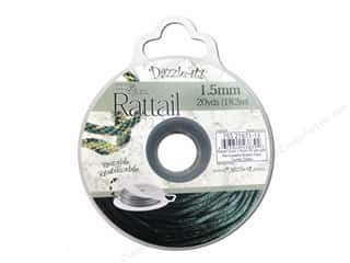 Dazzle It Rattail Cord 1.5mm Dark Hunter Grn 20yd