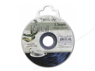 Dazzle-it Sewing Construction: Dazzle It Rattail Cord 1.5mm Dark Navy Blue 20yd