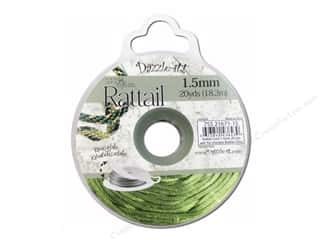 Dazzle It Rattail Cord 1.5mm Olive 20yd