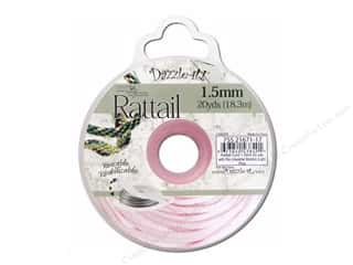 Dazzle-it Sewing Construction: Dazzle It Rattail Cord 1.5mm Light Pink 20yd