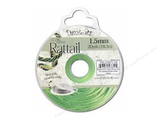 Dazzle It Rattail Cord 1.5mm Grass Green 20yd