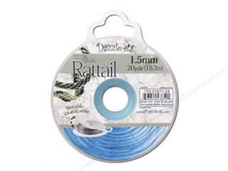 Dazzle-it Sewing Construction: Dazzle It Rattail Cord 1.5mm Aqua Blue 20yd
