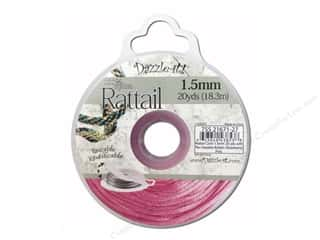 Dazzle It Rattail Cord 1.5mm Strawberry Pink 20yd