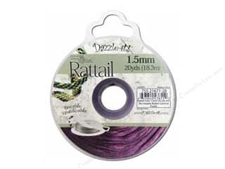 Dazzle It Rattail Cord 1.5mm Cardinal Purple 20yd