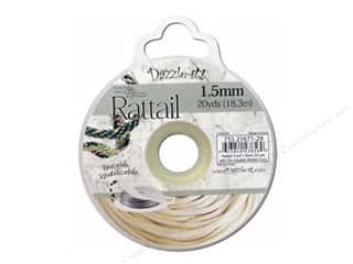 Dazzle It Rattail Cord 1.5mm Ivory 20yd