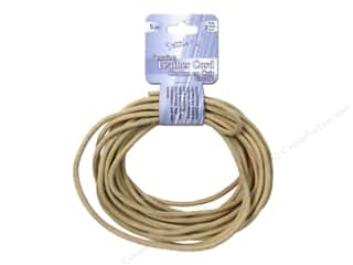 Dazzle It Leather Cord 3mm Round 5yd Natural