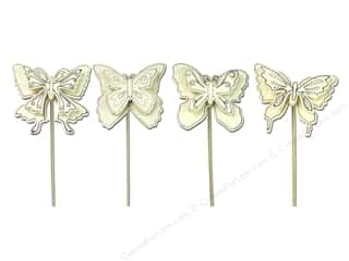 SPC Wood Stake Butterfly Layered 4 Astd Unfinished (2 piece)
