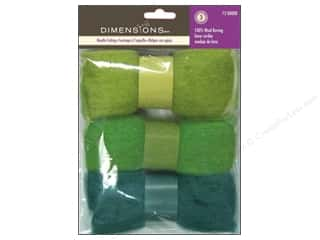 Dimensions: Dimensions Feltworks 100% Wool Roving Trio Blue/Green