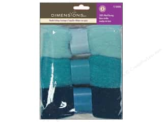 Dimensions: Dimensions Feltworks 100% Wool Roving Trio Blues