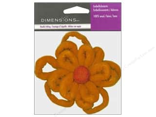 Dimensions Wool Felting Supplies: Dimensions Wool Felt Embellishment Triple Looped Flower