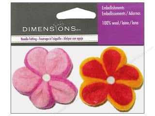 Felt Felt Shapes: Dimensions Wool Felt Embellishment Tiny Petunias