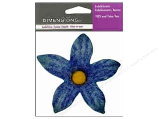 Felting Blue: Dimensions Wool Felt Embellishment Blue Lily