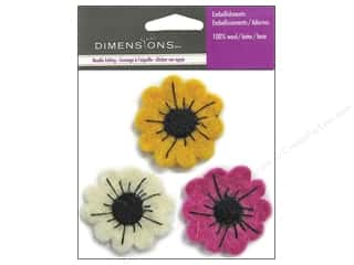 Dimensions Wool Felting Supplies: Dimensions Wool Felt Embellishment Dahlia Trio