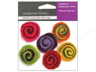 Dimensions: Dimensions Wool Felt Embellishment Multi-Color Spirals