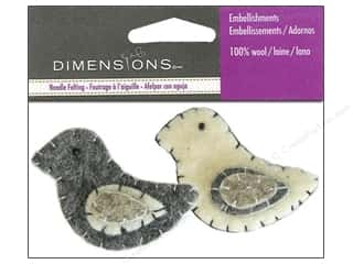 Dimensions Wool Felting Supplies: Dimensions Wool Felt Embellishment Birds