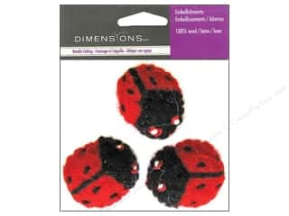 Lacis Wool Felting Supplies: Dimensions Wool Felt Embellishment Ladybugs