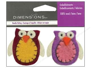 Lacis Wool Felting Supplies: Dimensions Wool Felt Embellishment Owl Duos