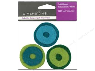 Dimensions: Dimensions Wool Felt Embellishment Layered Circles