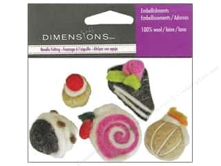Dimensions Black: Dimensions Wool Felt Embellishment Bakery Treats