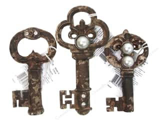 SPC Magnet Pewter Keys Assorted 3/Style Rust (3 piece)