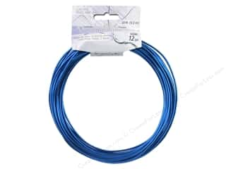 Wire Blue: Dazzle It Aluminum Wire 12ga Round 30ft Royal Blue