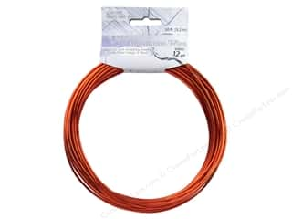 Dazzle It Aluminum Wire 12ga Round 30ft Orange