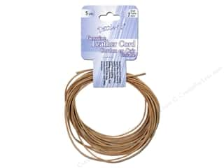 Dazzle It Leather Cord 1mm Round 5yd Natural