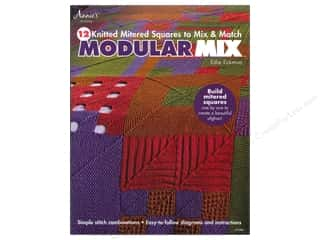 Books $5-$10 Clearance: Modular Mix: 12 Knitted Mitered Squares to Mix & Match Book