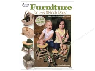 Doll Making Yarn & Needlework: Annie's Furniture For 5 & 10 Inch Dolls Book by Wanda Kenney
