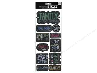 Me & My Big Ideas: MAMBI Sticker Sayings Chalk Family